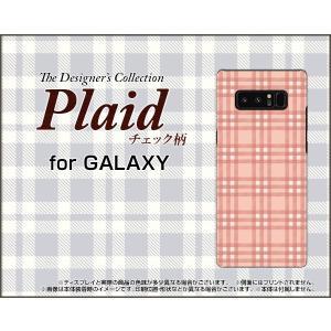 GALAXY Note 8 SC-01K SCV37 ハードケース/TPUソフトケース 液晶保護フィルム付 Plaid(チェック柄) type004 ちぇっく 格子 ピンク 可愛い(かわいい)|orisma