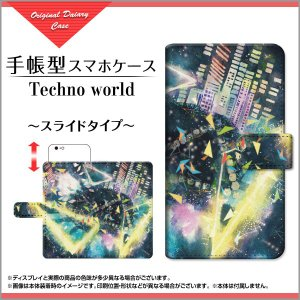 スマホケース iPhone XS/XS Max XR X 8/8 Plus 7/7 Plus SE 6/6s 6Plus/6sPlus 手帳型 スライド式 F:chocalo デザイン Techno world  音楽 黒 イラスト ポップ|orisma