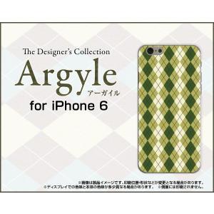 スマホケース iPhone 6 ハードケース/TPUソフトケース Argyle(アーガイル) type005 あーがいる 格子 菱形 チェック orisma