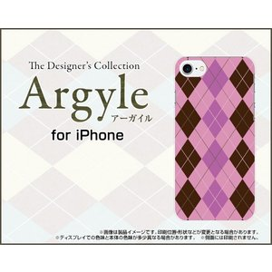 スマホケース iPhone 8 Plus ハードケース/TPUソフトケース Argyle(アーガイル) type006 あーがいる 格子 菱形 チェック orisma