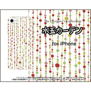 スマホケース iPhone 8 Plus ハードケース/TPUソフトケース 水玉カーテン(白×赤) 水玉 カーテン レッド ホワイト|orisma