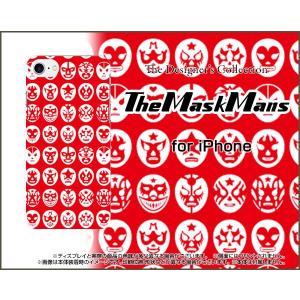 スマホケース iPhone 8 Plus ハードケース/TPUソフトケース The Mask Mans(レッド) マスク 覆面 プロレス|orisma