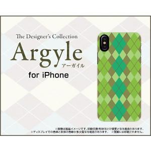 スマホケース iPhone XR ハードケース/TPUソフトケース Argyle(アーガイル) type003 あーがいる 格子 菱形 チェック|orisma