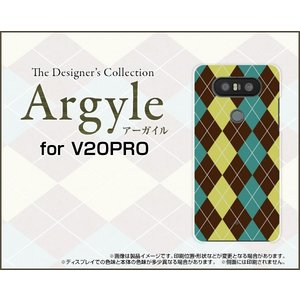 スマホケース V20 PRO L-01J ハードケース/TPUソフトケース Argyle(アーガイル) type001 あーがいる 格子 菱形 チェック|orisma