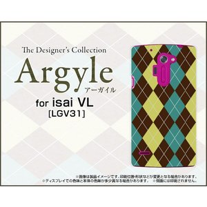 スマホケース isai VL LGV31 ハードケース/TPUソフトケース Argyle(アーガイル) type001 あーがいる 格子 菱形 チェック|orisma