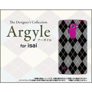 スマホケース isai vivid LGV32 ハードケース/TPUソフトケース Argyle(アーガイル) type002 あーがいる 格子 菱形 チェック|orisma