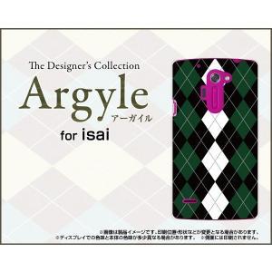 スマホケース isai vivid LGV32 ハードケース/TPUソフトケース Argyle(アーガイル) type004 あーがいる 格子 菱形 チェック|orisma