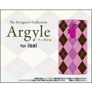 スマホケース isai vivid LGV32 ハードケース/TPUソフトケース Argyle(アーガイル) type006 あーがいる 格子 菱形 チェック|orisma