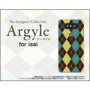 スマホケース isai Beat LGV34 ハードケース/TPUソフトケース Argyle(アーガイル) type001 あーがいる 格子 菱形 チェック|orisma