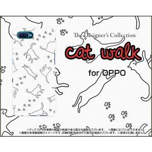 スマホケース OPPO Reno A オッポ レノ エー ハードケース/TPUソフトケース キャット...