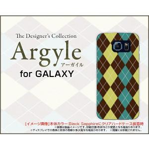 スマホケース GALAXY S6 SC-05G ハードケース/TPUソフトケース Argyle(アーガイル) type001 あーがいる 格子 菱形 チェック|orisma
