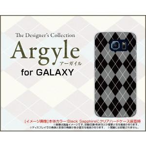 スマホケース GALAXY S6 SC-05G ハードケース/TPUソフトケース Argyle(アーガイル) type002 あーがいる 格子 菱形 チェック|orisma