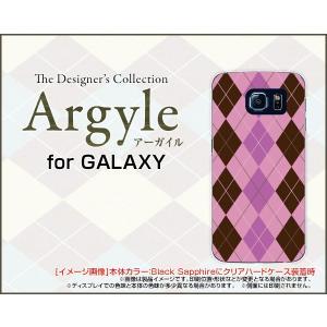 スマホケース GALAXY S6 SC-05G ハードケース/TPUソフトケース Argyle(アーガイル) type006 あーがいる 格子 菱形 チェック|orisma