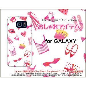 スマホケース GALAXY S6 SC-05G ハードケース/TPUソフトケース おしゃれアイテム(白×ピンク) 服 靴 おしゃれ ワードロープ 白|orisma