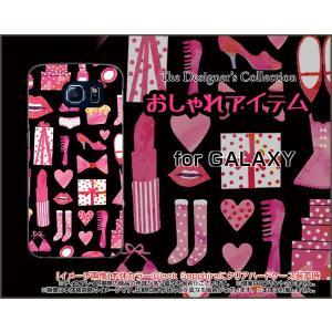 スマホケース GALAXY S6 SC-05G ハードケース/TPUソフトケース おしゃれアイテム(黒×ピンク) 服 靴 おしゃれ ワードロープ 黒|orisma
