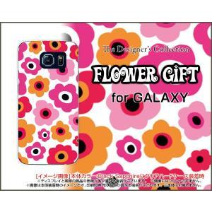 GALAXY S6 SC-05G ハードケース/TPUソフトケース 液晶保護フィルム付 フラワーギフト(ピンク×オレンジ) カラフル ポップ 花 ピンク オレンジ|orisma