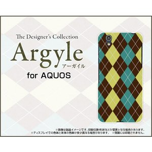 スマホケース AQUOS EVER SH-02J ハードケース/TPUソフトケース Argyle(アーガイル) type001 あーがいる 格子 菱形 チェック|orisma