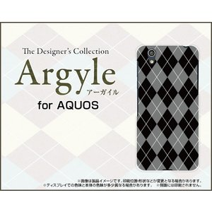スマホケース AQUOS EVER SH-02J ハードケース/TPUソフトケース Argyle(アーガイル) type002 あーがいる 格子 菱形 チェック|orisma