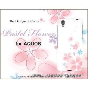 スマホケース AQUOS EVER SH-02J ハードケース/TPUソフトケース Pastel Flower type004 パステル 花 フラワー ピンク ホワイト|orisma