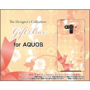 AQUOS EVER SH-04G ハードケース/TPUソフトケース 液晶保護フィルム付 Gift Box ドット リボン パステル 花|orisma