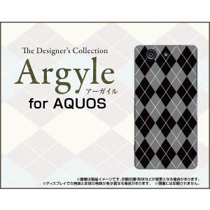 スマホケース AQUOS SERIE mini SHV33 アクオス セリエ ミニ ハードケース/TPUソフトケース Argyle(アーガイル) type002 あーがいる 格子 菱形 チェック|orisma
