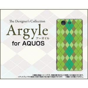 スマホケース AQUOS SERIE mini SHV33 アクオス セリエ ミニ ハードケース/TPUソフトケース Argyle(アーガイル) type003 あーがいる 格子 菱形 チェック|orisma