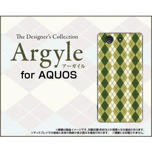 スマホケース AQUOS SERIE mini SHV33 アクオス セリエ ミニ ハードケース/TPUソフトケース Argyle(アーガイル) type005 あーがいる 格子 菱形 チェック|orisma