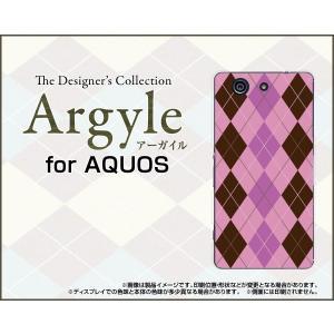 スマホケース AQUOS SERIE mini SHV33 アクオス セリエ ミニ ハードケース/TPUソフトケース Argyle(アーガイル) type006 あーがいる 格子 菱形 チェック|orisma