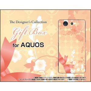 スマホケース AQUOS SERIE mini SHV33 アクオス セリエ ミニ ハードケース/TPUソフトケース Gift Box ドット リボン パステル 花|orisma