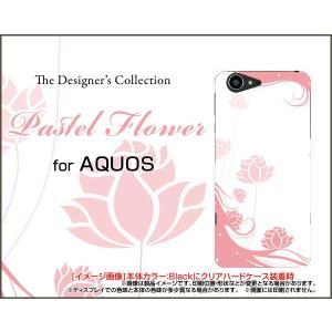 スマホケース AQUOS SERIE SHV34 アクオス ハードケース/TPUソフトケース Pastel Flower type006 パステル ピンク 花 フラワー|orisma