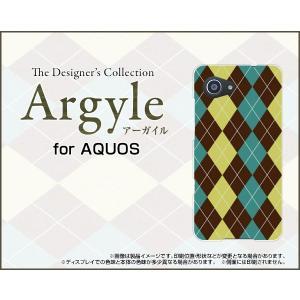 スマホケース AQUOS SERIE mini SHV38 ハードケース/TPUソフトケース Argyle(アーガイル) type001 あーがいる 格子 菱形 チェック|orisma