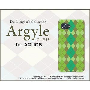 スマホケース AQUOS SERIE mini SHV38 ハードケース/TPUソフトケース Argyle(アーガイル) type003 あーがいる 格子 菱形 チェック|orisma