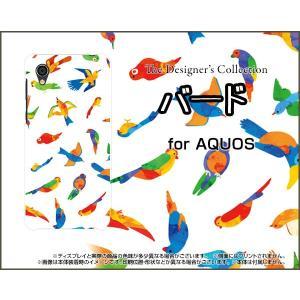 スマホケース AQUOS sense2 かんたん SHV43K au ハードケース/TPUソフトケース バード(カラフル) 鳥 とり カラフル 動物|orisma