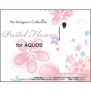 スマホケース AQUOS sense2 かんたん SHV43K au ハードケース/TPUソフトケース Pastel Flower type004 パステル 花 フラワー ピンク ホワイト|orisma