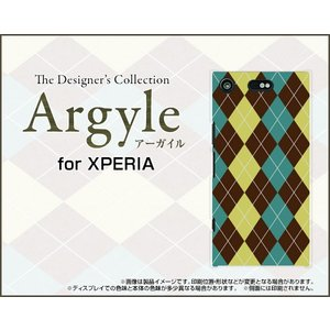 スマホケース XPERIA XZ1 Compact SO-02K ハードケース/TPUソフトケース Argyle(アーガイル) type001 あーがいる 格子 菱形 チェック|orisma