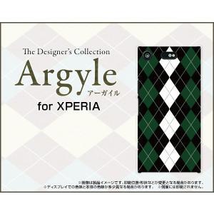 スマホケース XPERIA XZ1 Compact SO-02K ハードケース/TPUソフトケース Argyle(アーガイル) type004 あーがいる 格子 菱形 チェック|orisma