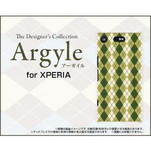 スマホケース XPERIA XZ1 Compact SO-02K ハードケース/TPUソフトケース Argyle(アーガイル) type005 あーがいる 格子 菱形 チェック|orisma