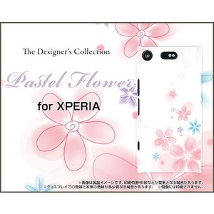 XPERIA XZ1 Compact SO-02K ハードケース/TPUソフトケース 液晶保護フィルム付 Pastel Flower type004 パステル 花 フラワー ピンク ホワイト orisma