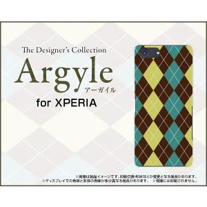 スマホケース XPERIA Ace SO-02L docomo ハードケース/TPUソフトケース Argyle(アーガイル) type001 あーがいる 格子 菱形 チェック|orisma