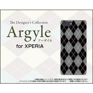 スマホケース XPERIA Ace SO-02L docomo ハードケース/TPUソフトケース Argyle(アーガイル) type002 あーがいる 格子 菱形 チェック|orisma