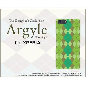 スマホケース XPERIA Ace SO-02L docomo ハードケース/TPUソフトケース Argyle(アーガイル) type003 あーがいる 格子 菱形 チェック|orisma