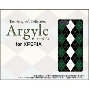 スマホケース XPERIA Ace SO-02L docomo ハードケース/TPUソフトケース Argyle(アーガイル) type004 あーがいる 格子 菱形 チェック|orisma