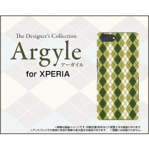 スマホケース XPERIA Ace SO-02L docomo ハードケース/TPUソフトケース Argyle(アーガイル) type005 あーがいる 格子 菱形 チェック|orisma