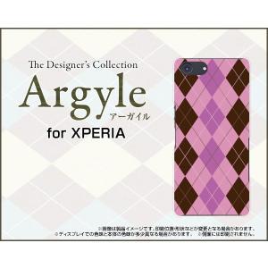 スマホケース XPERIA Ace SO-02L docomo ハードケース/TPUソフトケース Argyle(アーガイル) type006 あーがいる 格子 菱形 チェック|orisma