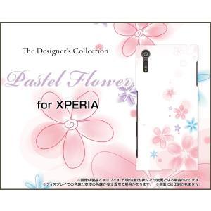 スマホケース XPERIA XZ SO-01J SOV34 601SO ハードケース/TPUソフトケース Pastel Flower type004 パステル 花 フラワー ピンク ホワイト|orisma