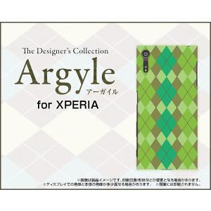 スマホケース XPERIA XZs SO-03J SOV35 602SO ハードケース/TPUソフトケース Argyle(アーガイル) type003 あーがいる 格子 菱形 チェック|orisma
