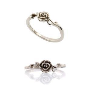 Blooming Rose リング K18ホワイトゴールド|orite