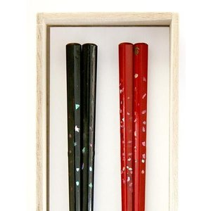 「近江の名工」夫婦箸 貝入り箸 orite