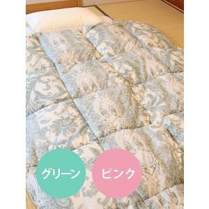 送料無料 日本製 掛け布団 シングル (幅150cm×縦210cm)  丸洗いOK 中綿300g増量 あったかシュレープ掛け布団|orite