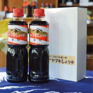 お醤油2本セット (500ml×2本) ヤマキ醤油プチギフトA コンパクト サイズ 包装・熨斗(のし)対応可 ご挨拶やお返しに|orite